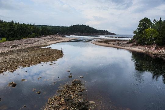 MacDonalds Big Pond, Cape Breton Highlands National Park, Cape Breton Island, Nova Scotia, Canada