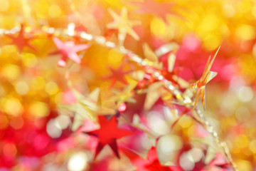 Colorful bokeh background. Bright christmas lights.