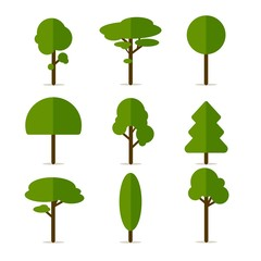 Vector Illustration of Tree Icons