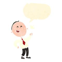 retro cartoon talking businessman