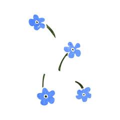 retro cartoon flowers