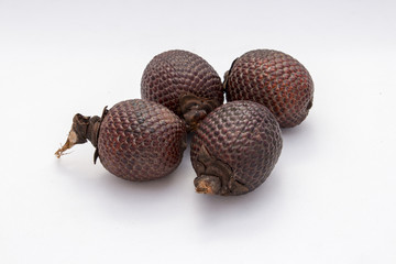 Exotic fruit of America: Aguaje or Moriche palm fruit mauritia