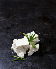 Greek  feta cheese with rosemary