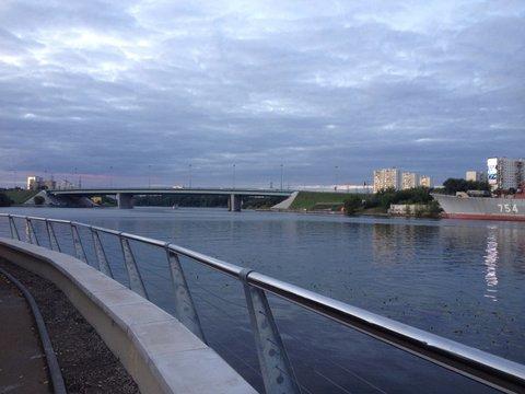 Moscow, embankment in Tushino
