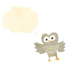 retro cartoon owl