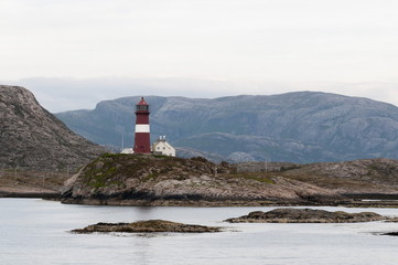 Buholmrasa Lighthouse, Norway, Scandinavia, Europe