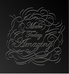 Inspirational and encouraging quote design.