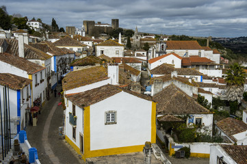 View over Obidos, Estremadura, Portugal, Europe
