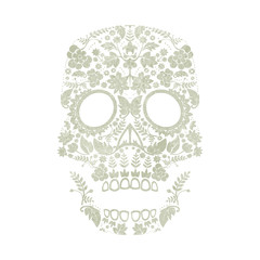 day of the dead skull design