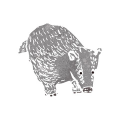 retro cartoon badger