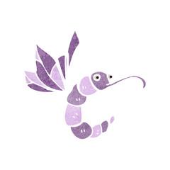 retro cartoon funny butterfly