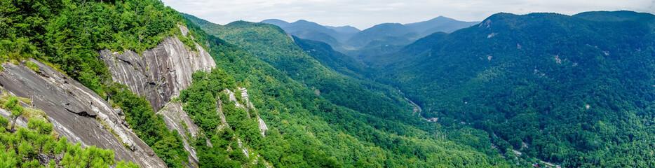 Aluminium Prints Mountains lake lure and chimney rock landscapes