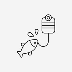 fishing line icon