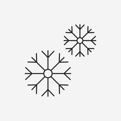 snowflake line icon