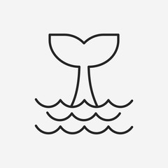 Whale line icon
