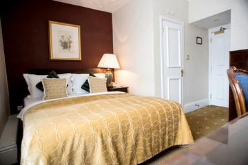 Modern double clean bedroom