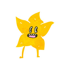 retro cartoon star