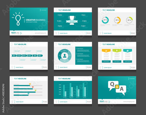 infographic business presentation template set powerpoint template
