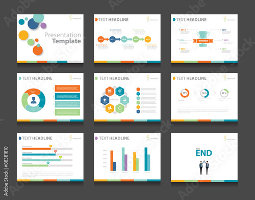 Super colorful infographic business presentation template set.powerpoint  YO47