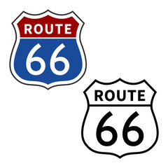 US Route 66 / Will Rogers Highway vector sign