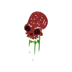 Printed roller blinds Watercolor Skull retro cartoon gross skull