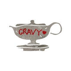 retro cartoon gravy boat