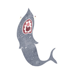 retro cartoon shark