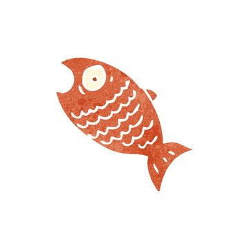 retro cartoon shocked fish