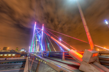 Nelson Mandela Bridge at night - Johannesburg
