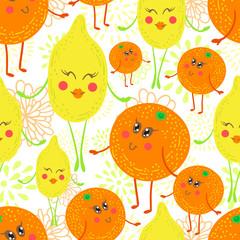 Cartoon fruit pattern