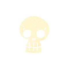 Printed roller blinds Watercolor Skull retro cartoon skull