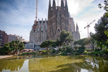 Nativity Facade of the Sagrada Familia in Barcelona