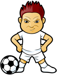 Angry soccer player vector image