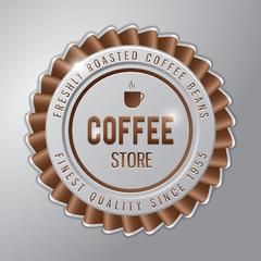 Coffee badge ; coffee store