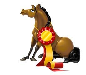 Fototapete - cavallo vincente