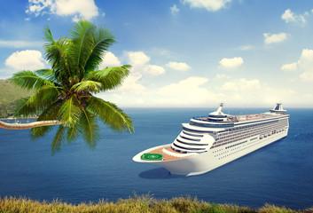 Cruise Destination Ocean Summer Island Concept
