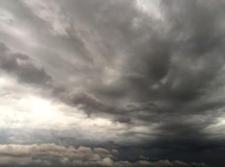 dark sky and cloudy