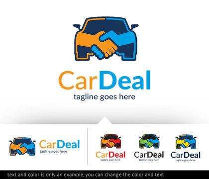 Car Deal Logo Template Vector