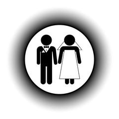 Wedding couple button.