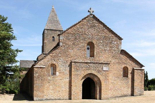 Saint Pierre de Brancion church in Brancion, France