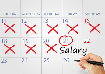salary appointment date on calendar