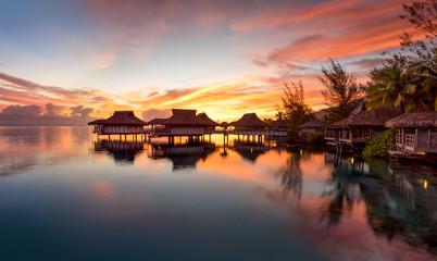 Wall Mural - Sonnenuntergang auf Bora Bora