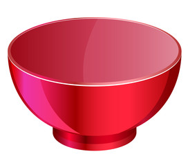 Empty red bowl vector image