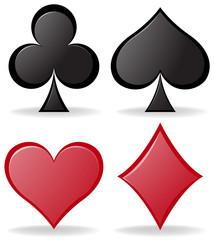 Simple design of poker symbols