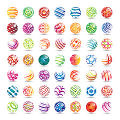 Sphere Icons Set - Isolated On White Background - Vector Illustration, Graphic Design Editable For Your Design