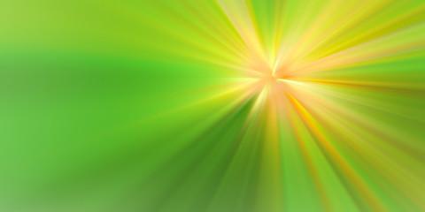 Esplosione di luce gialla su sfondo verde