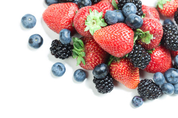 Berry mix isolated