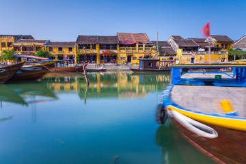 The riverside of Hoi An ancient town, UNESCO World Heritage Site, Vietnam.