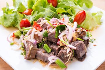 Thai Summer spicy beef salad