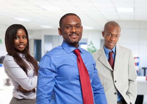 Afro-american business people